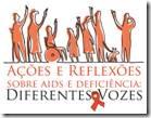 Relatório do seminário Ações e Reflexões Sobre AIDS e Deficiência: descrição da foto abaixo