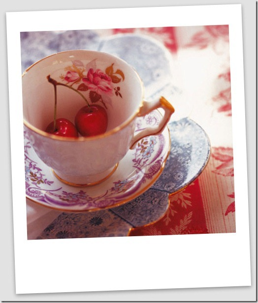 cherries and teacup