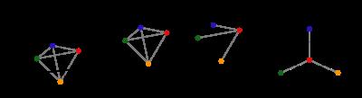diagram of unfolding a tetrahedron