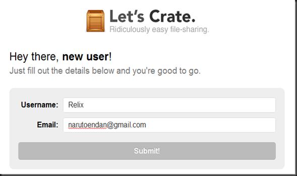 Registro crate