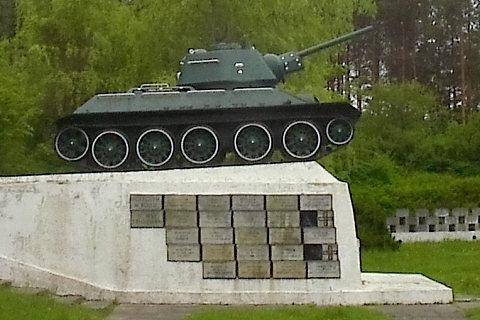 Studzianki Pancerne, pomnik.