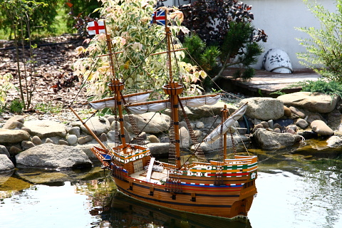 Mayflower. Model - Park Miniatur, Inwałd.