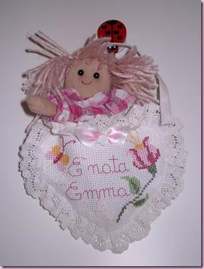 fiocco nascita con bambolina