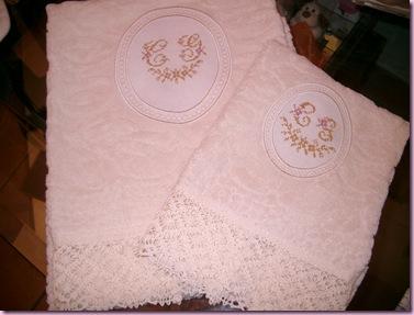 ovale - asciugamano con trina CG 1
