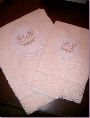ovale - asciugamano con trina PB 2