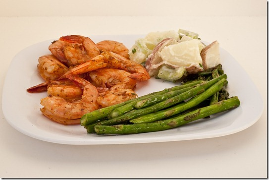 grilled shrimp with lemony potato salad-033