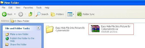 buat file winrar finish