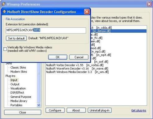 modify decoder winamp