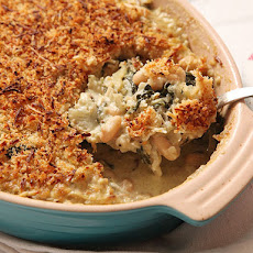 Swiss Chard, Fennel, and White Bean Gratin