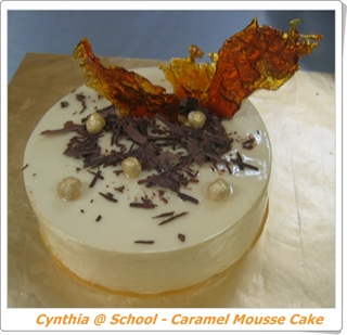 blog - Caramel mousse cake