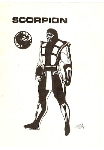 mortal kombat scorpion drawings. mortal kombat scorpion