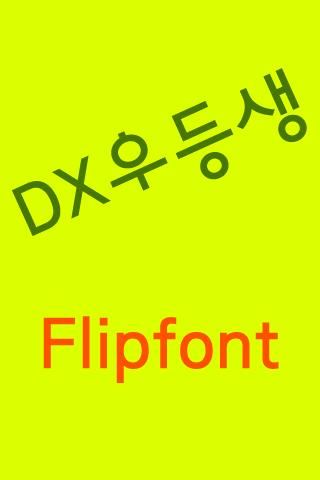 DX우등생 한국어 FlipFont