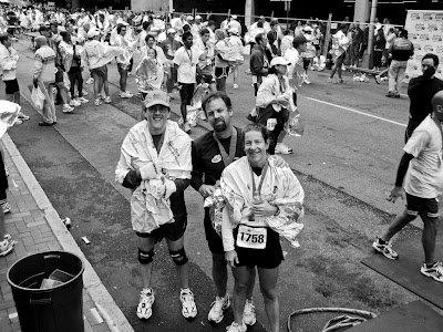 Picture of me (on the left) after the Richmond Marathon