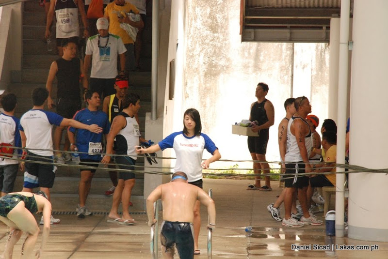 a participant finished in swimming