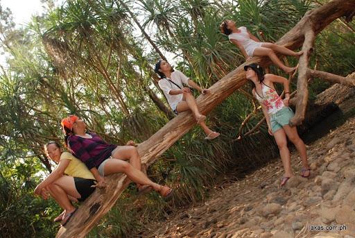 the girls at anawangin cove