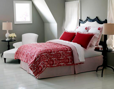bedroom_white red grey black_Kate Mathis Photography