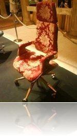 Hadi Teherani's gold office chair