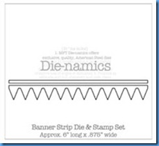 Banner Strip DIe & Stamp Set Die-namics
