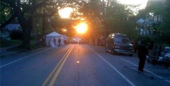 very early street