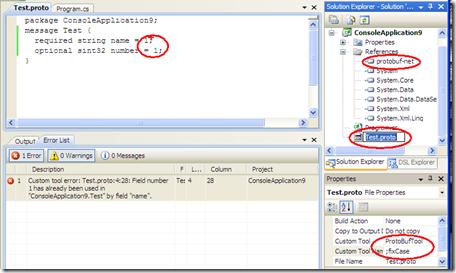 Visual Studio with protobuf-net as a Custom Tool