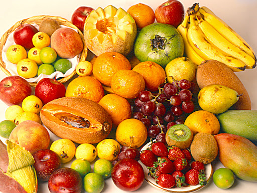 Stock pictures harmonious set of fruits color plenty and textures