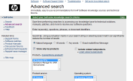 HP Advanced Self-Solve Knowledge Search