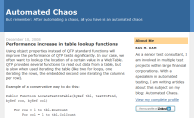 'Automated Chaos' blog