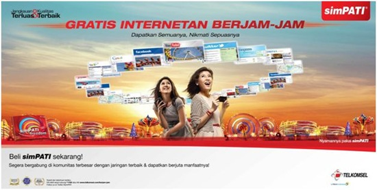 simPATI gratis internetan berjam-jam 1