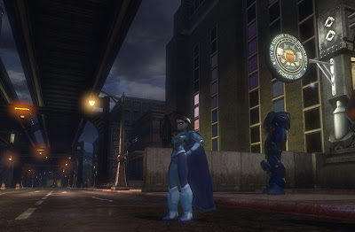 DC Universe Online Screenshot - Hanging in Gotham City