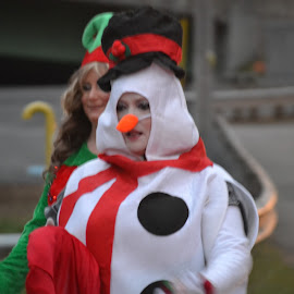 At our Christmas Parade by Linda Blevins - People Street & Candids