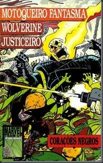 Motoqueiro Fantasma, Wolverine e Justiceiro - Corações Negros #01 (1991)