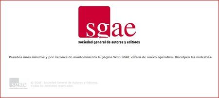Ataque a las webs Así se vio la pagina de la sgae