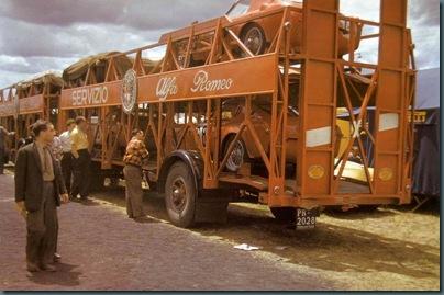 1953 LE MANS - ALFA ROMEO TRANSPORTER WITH 6C 3000 CM
