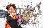 Dalila Puzzovio celebra sus 20 años con el arte en la 20º edición de arteBA. Gentileza: Marce García/ Press&PR