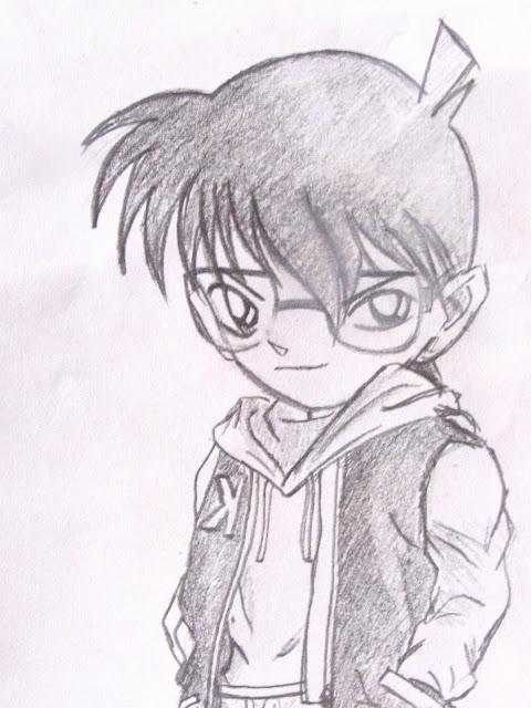 【我的铅笔画】 柯南`小哀`