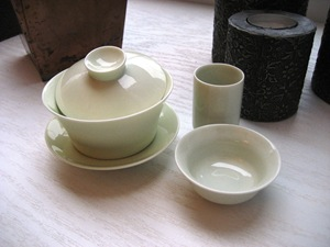 celadon tea ware set