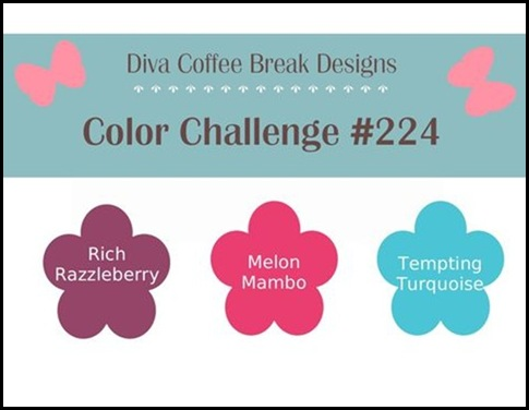 DCBD_224, color challenge, diva coffee break designs team, Sharon Field