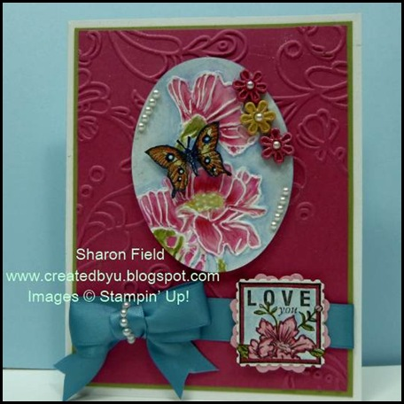 SFF, Sharon Field, Created By You, Design Team, Sketch Challenge, Flower Garden, Texured Embossing Folder, Big Shot Machine