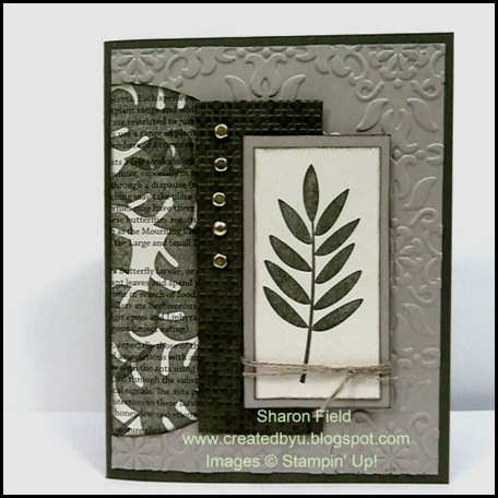DCBD227, masculine card, paradise, Sharon Field, Challenge, Created by You