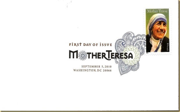Mother Teresa_First Day Cover with Ornamental Cancellation