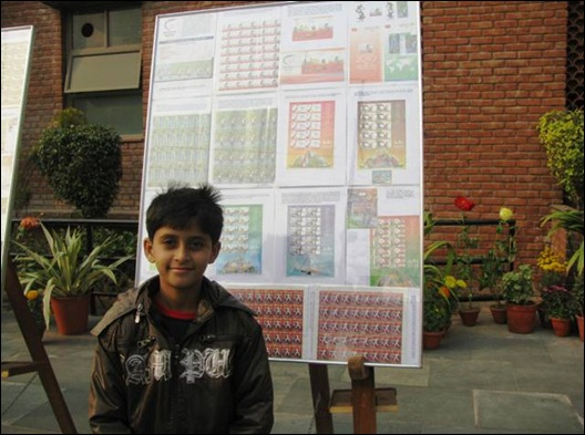 Arun with his exhibit