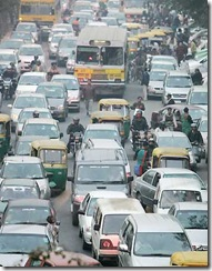 Traffic jam New Delhi