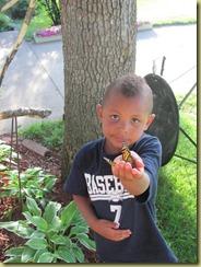jordan holding butterfly