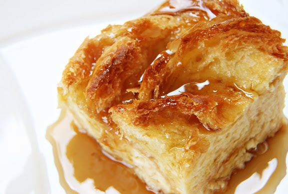 Croissant Bread Pudding – Honey & Butter