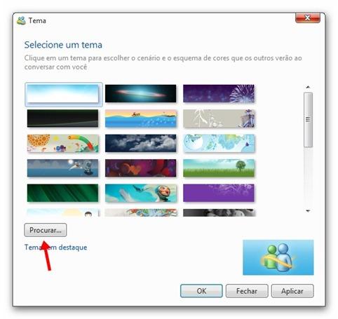 Clique em Procurar e encontre a pasta onde extraiu as imagens que baixou