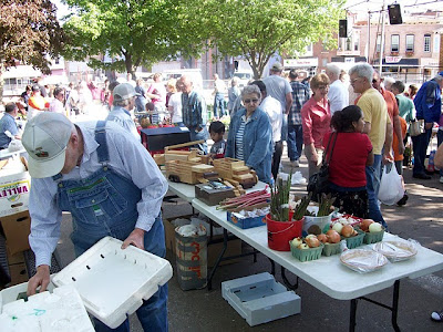 Opening day at last year's farmer's market
