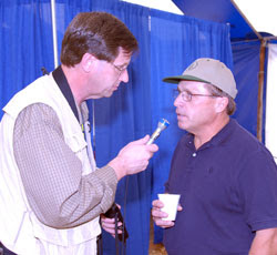 Tom Steever (Left) on the job (Courtesy of Brownfield)