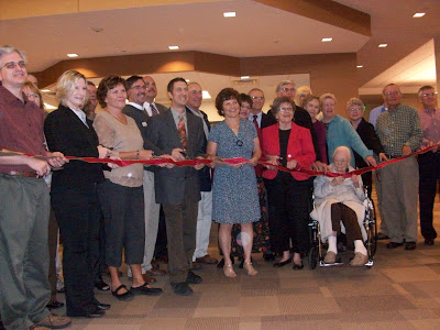 Ribbon Cutting at the New Library