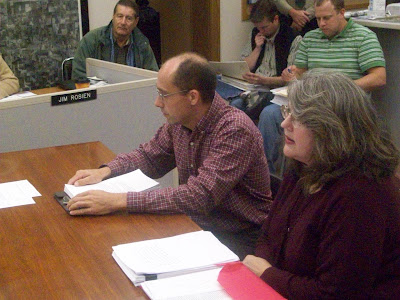 Free County Members James Graham and Mary Leedy at a board of supervisors meeting prior to the passage of zoning