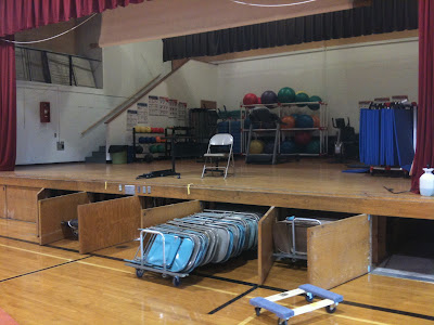 Precautions Over Mold Underneath The Stage At The Washington Junior High School Kept Doors Closed The First Day Of School.<br /> (KCII's Chance Dorland)